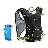 Docooler 8L Lightweight Vest Backpack + 1.5L Hydration Bladder for Unisex Women Men Running Ski Hiking Cycling Bike