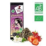 Le Chapelier Fou TEE grün brombeer Erdbeere Jasmin Bio–Beutel 100g lose–& # x2605; Zertifiziert Landwirtschaft Bio & # x2605;