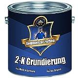 Goldmeister Farben 2-K Grundierung Wunschfarbton! Grau Weiß Schwarz inkl. Härter im Set (5 kg, Weiß RAL 9010)