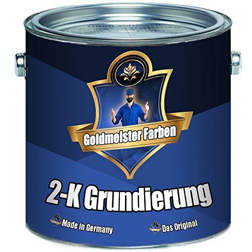 Preisvergleich Produktbild Goldmeister Farben 2-K Grundierung Wunschfarbton! Grau Weiß Schwarz inkl. Härter im Set (10 kg,  Lichtgrau RAL 7035)