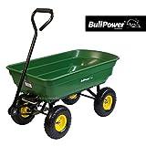 BullPower BWG-75 Bollerwagen Transportwagen Handwagen Kippwagen Gartenwagen Schubkarre Kippbarer mit bis zu 270 kg und 75L