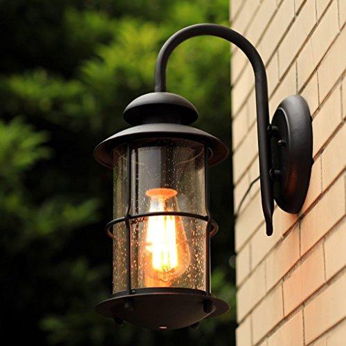 MOMO Modernes einfaches amerikanisches Land-industrielle Wand-im Freien wasserdichte Villa-Garten-Wand-Lampen-Balkon-Korridor-Eisen-Wand-Lampe