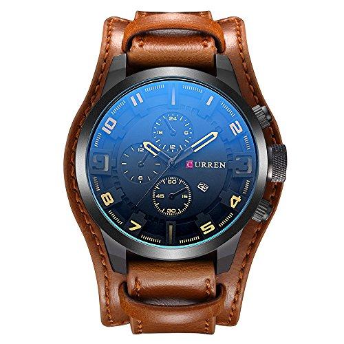 Nuevo producto de moda para hombre reloj negro reloj Business Casual reloj muñeca relojes para hombres