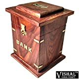 PIGGY BANK, HANDCRAFTED IMPORTED WOODEN ...