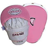 Curved Focus Pads, Hook & Jab Mitts, Boxing Training Pads, Real leather by farabi