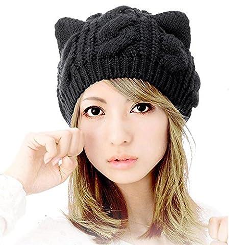 Traumzimmer Katzenohren Chapeau Hanf Blumen gestrickte Hüte Kopfschmuck Caps