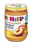 HiPP Apfel-Pfirsich mit Vollkorn, 6er Pack (6 x 190 g)