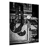 Mittagspause - Wandbild Stahlwerk Maxhütte, exklusiver Druck auf Leinwand, Alu-Dibond oder Acrylglas inkl. kostenloser Wandhalterung - Moderne Wandbilder Bilder Glas Bild Kunst Fotografie Kunstdruck Deko für Wohnzimmer, Schlafzimmer und Büro