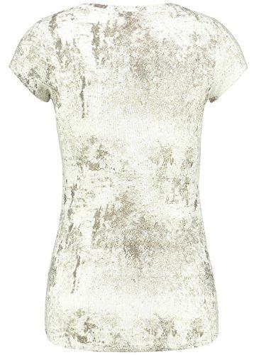 Key Largo Damen T-Shirt WT HAZE Vintage Optik Verwaschen Brusttasche Glitzer Style Sand