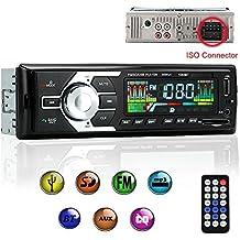 Radio de Coche de audio USB / SD / MP3 Receptor Bluetooth manos libres con control remoto Negro