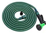 Jardinax Tubo acqua giardino flessibile e estensibile con doccetta e attacco per tutti i rubinetti I Canna da irrigazione per innaffiare