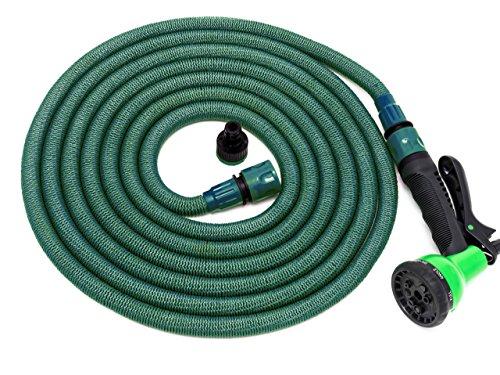 Jardinax Tubo estensibile da giardino di 2a GENERAZIONE con pistola e attacco per tutti i rubinetti I Gomma per l\'acqua da irrigazione per innaffiare