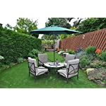 UKayed ® PARASOL New 2.7m Steel Metal Powder Coated Garden Furniture Parasol With Winding Crank & Tilt Function (Green)