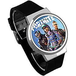 Shuofeng Tech Fortnite Watch Athletic Shooting Intelligent Game Night Light Touch LED Creative Electronic Student Watch for Game Lovers Adult Boys and Girls (16)
