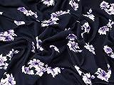 Floral Print Viskose Kleid Stoff marineblau blau &
