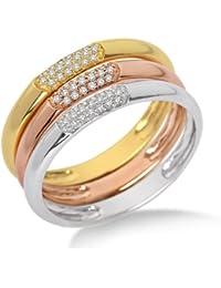 Miore - MF9008R - Bague Femme - Or trois couleur 375/1000 (9 carats) - Diamants 0.18 cts