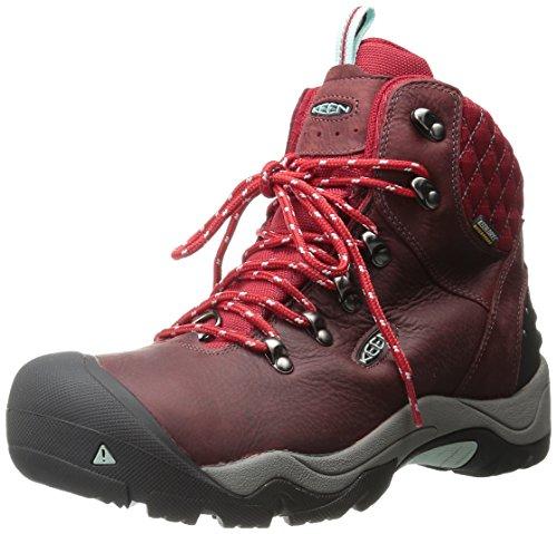 KEEN Damen Revel III Trekking-& Wanderstiefel, Rot (Racing Red/Eggshell 0), 41 EU (Stiefel Keen-womens Wasserdicht)