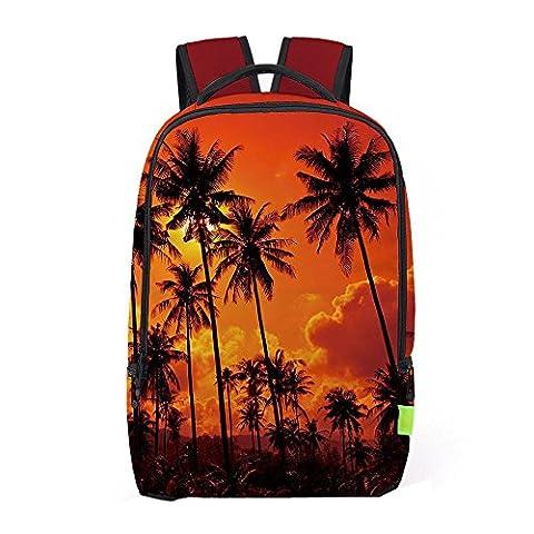 Backpack, Familizo Women Men Shoulder Bag 3D Galaxy Travel Satchel Rucksack (H)