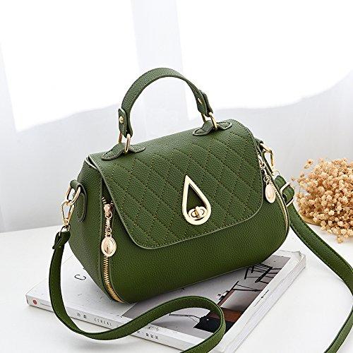 LiZhen piccoli pacchetti femmina di nuova tendenza di le donne coreane il pacchetto a un algebra lineare tote bag, piccolo pacchetto, m grigio Verde