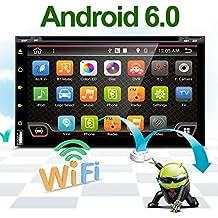 Mejor WiFi modelo 6.0Android Quad-Core 6.95Full pantalla táctil universal de coche DVD reproductor de CD GPS 2DIN estéreo GPS navegación libre cámara y mapa