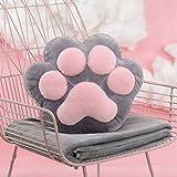 pillow Oreiller de griffe de chat mignon avec fonction de couette Combo de couverture de couchage au bureau à midi oreiller de taille corail voiture oreiller en molleton ( Color : Gris )