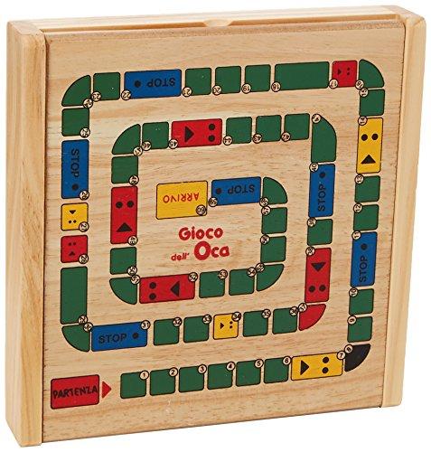 Globo Toys Globo-35043legnoland Holz Schach und Checkers Spiele (Checkers Board Spiel)