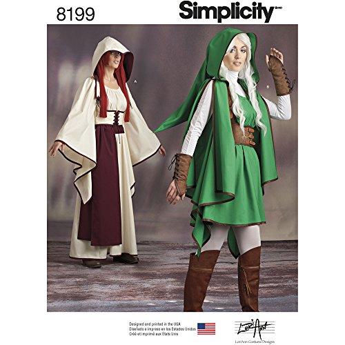 Simplicity Muster 8199Misses 'Gaming Warrior Kostüme, weiß (Gaming Kostüme)
