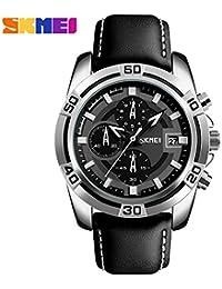 Skmei Luxury Chronograph Black Dial Men's Watch -Skm-9156-Black