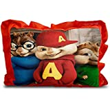 Sleep Nature's Baby Pillow For Kids|Soft Baby Pillow|Rectangle Shape|Soft Toys|Cartoon Printed|Red Colour Pillow|Pillow Size 14x20 Inches|40