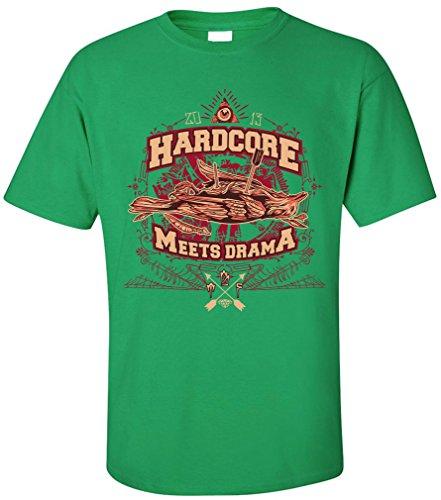 PAPAYANA - HARDCORE-DRAMA - Herren T-Shirt - ILLUMINATE VINTAGE RETRO Grün
