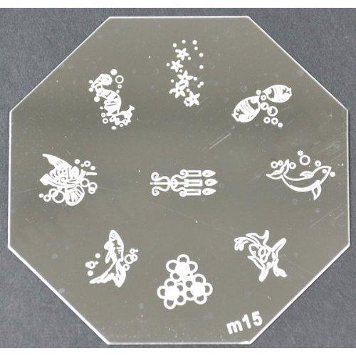 Nail Art emboutissage des tôles - M01 CODE : M15-plaque