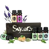Skymore Kit Huiles Essentielles Top 6Pcs, 100% Pures & Naturelles Ingrédients, Aromathérapie Humidificateurs Oils 6/10M, Parfait Cadeau, Pour dormir et diffuseurs