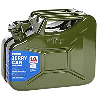Sandleford 10 Litre Metal/Steel Jerry Can Suits Fuel Diesel Petrol 10L UN Approved (Green)