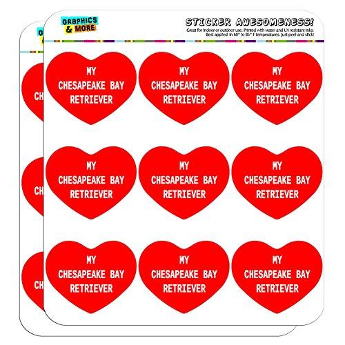 5cm (5,1cm) Scrapbooking, Aufkleber I love heart my Etui My Chesapeake Bay Retriever (Chesapeake Bay Retriever Aufkleber)