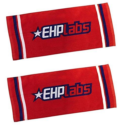 Ehp labs, asciugamano sportivo da palestra, red twin pack