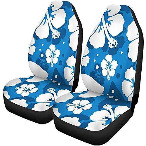 Xiaoyinghua Autositzbezüge Blue Hawaii Hibiscus Flowers Hawaiian Muster Aloha Floral Beach Auto Zubehör Protektoren Car Decor Universal