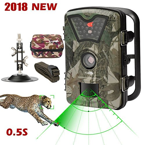 X-Lounger Men's Wildlife Trail Trap 1080P 12MP No Glow Infrared Night Vision Motion Activated ...