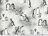 ab 1m: Sweat-Druck, Pinguine, Rückseite Flausch,