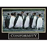 Conformity Poster -ORIGINAL- Barney Stinson Poster - 3/13 - How I met your mother - Poster - Motivation Poster - Büro Poster - Barney Stinson Office Poster - Pinguin Poster - motivational poster penguin poster - penguins Pinguine Poster