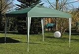 Stahl-Faltpavillon 3x3m grün/weiss