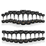 EXTREME FITNESS® Hex Dumbbell Rubber Weight Sets 1KG - 50KG (2 x 15KG)