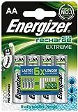 Energizer 2300MAh AA Accu Recharge Extreme Batteries, 4 Batteries