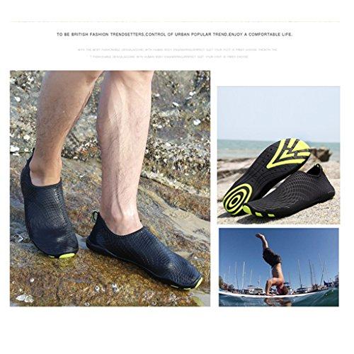 SAGUARO® Sommer Strand Badeschuhe Schlüpfen Schnell trocknend Schwimmen Aquaschuhe Mesh Slip on Wasserschuhe für Damen Herren Schwarz