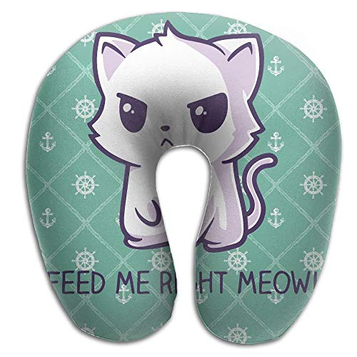 EighthStore Feed Me Right Now U Type Pillow Neck Pillow Relex Pillow Travel Pillow with Resilient Material U-förmiges