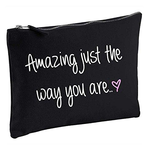 Amazing Just the Way You Are Noir Make Up Sac cadeau Idée de cadeau Trousse de toilette