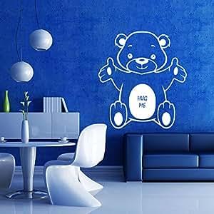 Sky Solution Decals Design Wall Sticker Bear Hug Wall Sticker