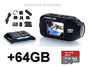 Drift HD Ghost S - Memory Edition, drift Ghost WiFi Full HD Action with 2-Way Remote and 64GB Memory Card