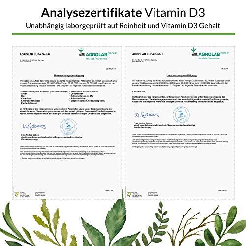 Vitamin D3 – Laborgeprüft – Zertifiziert – 1000 I.E. pro Tropfen – 50ml (1750 Tropfen) – In MCT-Öl aus Kokos – Hochdosiert und hergestellt in Deutschland - 5