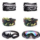 COSORO 2 Piezas Gafas de Protección de Seguridad Y 4 Piezas Máscara Táctica Multifunción Ajustable para Nerf N-Strike Elite Gun Juguete Pistola Juego de Protección Ocular