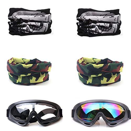 COSORO 2 Stücke Sicherheits schutzbrille Und 4 Stücke Einstellbare Mehrzweck Taktische Gesichtsmaske Für Nerf N-Strike Elite Gun Toy Gun Spiel